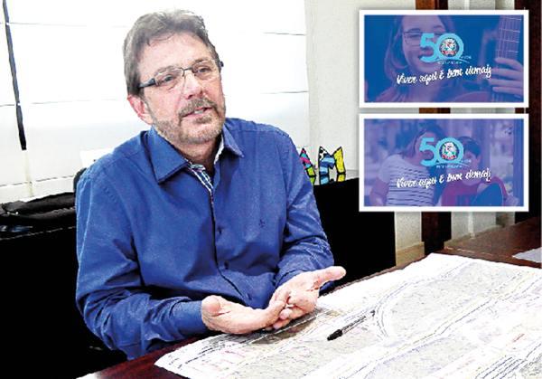 Mourão não economiza em publicidade (no detalhe da foto), enquanto setores do Município, como Saúde e Infraestrutura urbana continuam precisando de atenção (Foto: Matheus Tagé/DL)